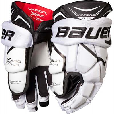 White/Black (Bauer Vapor X800 Hockey Gloves - Junior)