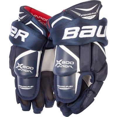 Navy (Bauer Vapor X800 Hockey Gloves - Junior)