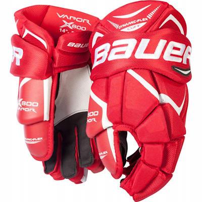 Red (Bauer Vapor X800 Hockey Gloves - Junior)