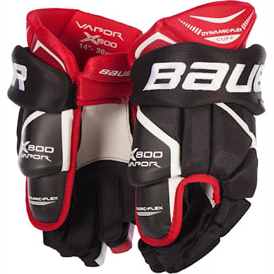 Black/Red (Bauer Vapor X800 Hockey Gloves - Junior)