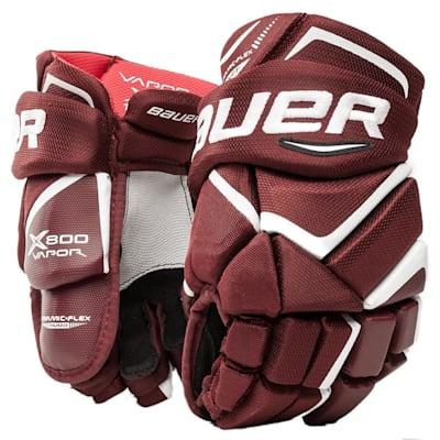 Maroon (Bauer Vapor X800 Hockey Gloves - Junior)