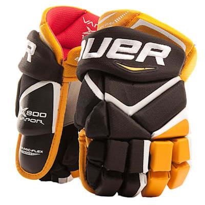 Black/Gold (Bauer Vapor X800 Hockey Gloves - Junior)