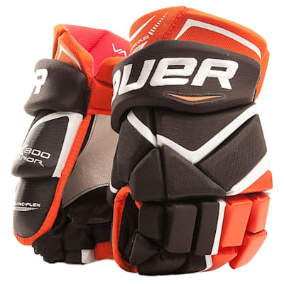 Black/Orange (Bauer Vapor X800 Hockey Gloves - Junior)
