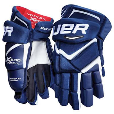 Blue (Bauer Vapor X800 Hockey Gloves - Junior)