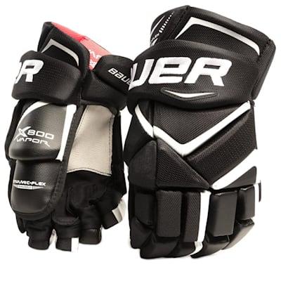 Black/White (Bauer Vapor X800 Hockey Gloves - Senior)