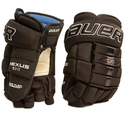 Black (Bauer Nexus 1N Ice Hockey Gloves - Senior)