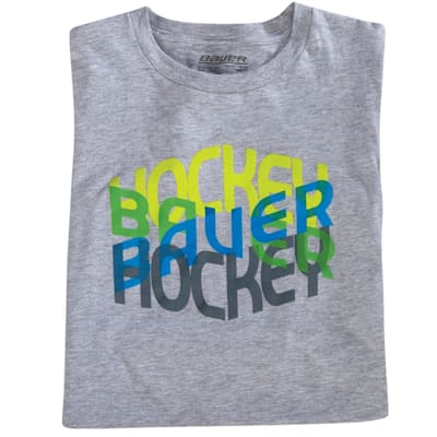 BF16 Hockey Repeat Logo Tee (Bauer BF16 Hockey Repeat Logo Hockey Shirt - Boys)