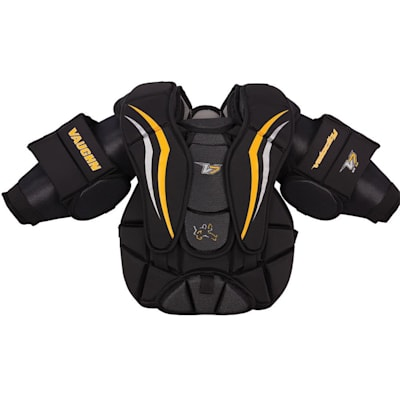 Black/Sport Gold/White (Vaughn Velocity 7 XF Pro Goalie Chest And Arm Protector - Youth)