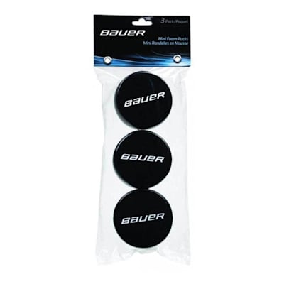 (Bauer Mini Foam Hockey Puck - 3 Pack)