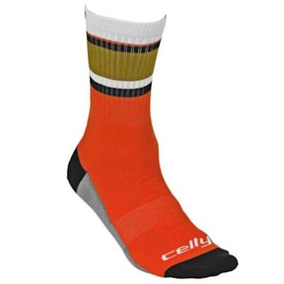 Anaheim Celly Socks (Celly Hockey Socks - Anaheim - Mens)