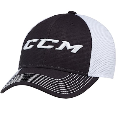 Black (CCM Performance Mesh Flex Cap - Adult)