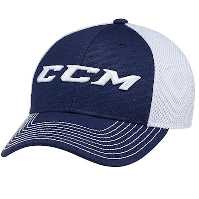 Navy (CCM Performance Mesh Flex Cap - Adult)