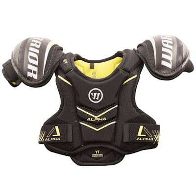 Alpha QX Shoulder Pad - Front View (Warrior Alpha QX Hockey Shoulder Pads - Youth)