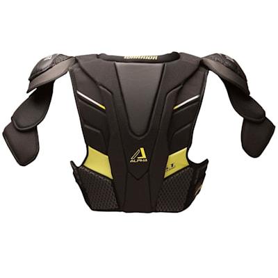 Alpha QX Shoulder Pad - Back View (Warrior Alpha QX Hockey Shoulder Pads - Junior)