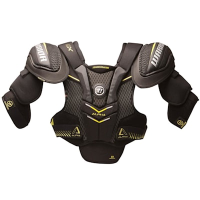 Alpha QX Shoulder Pad - Front View (Warrior Alpha QX Hockey Shoulder Pads - Senior)