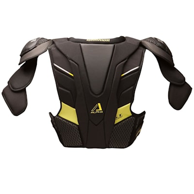 Alpha QX Shoulder Pad - Back  View (Warrior Alpha QX Hockey Shoulder Pads - Senior)