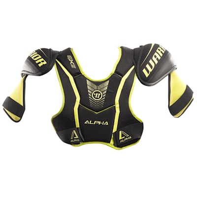 Alpha QX5 Shoulder Pad - Front View (Warrior Alpha QX5 Hockey Shoulder Pads - Junior)