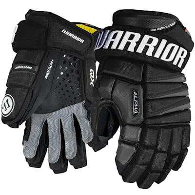 Black (Warrior Alpha QX Ice Hockey Gloves - Senior)