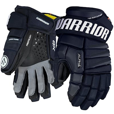 Navy (Warrior Alpha QX Ice Hockey Gloves - Senior)