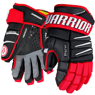 Black/Red/White (Warrior Alpha QX Ice Hockey Gloves - Senior)