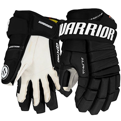 Black (Warrior Alpha QX Pro Hockey Gloves - Senior)