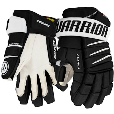 Black/White (Warrior Alpha QX Pro Hockey Gloves - Senior)