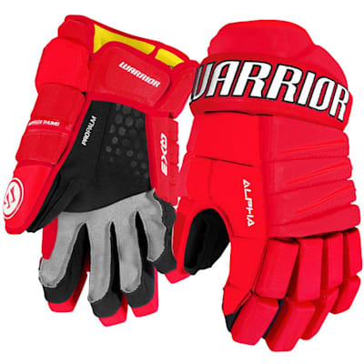 Red/White (Warrior Alpha QX3 Ice Hockey Gloves - Junior)