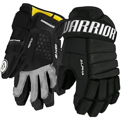 Black (Warrior Alpha QX3 Ice Hockey Gloves - Junior)