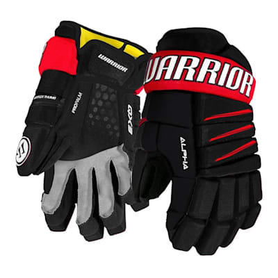 Black/Red (Warrior Alpha QX3 Ice Hockey Gloves - Junior)