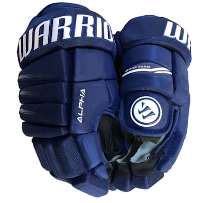 Dark Royal/White (Warrior Alpha QX3 Ice Hockey Gloves - Junior)