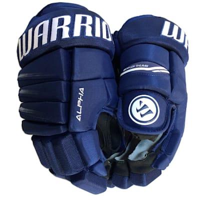 Dark Royal/White (Warrior Alpha QX3 Ice Hockey Gloves - Senior)