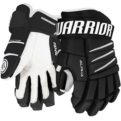 Black/White (Warrior Alpha QX4 Hockey Gloves - Junior)