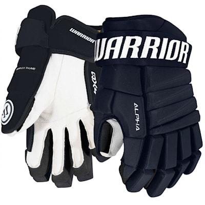 Navy (Warrior Alpha QX4 Ice Hockey Gloves - Junior)
