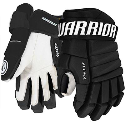 Black (Warrior Alpha QX4 Ice Hockey Gloves - Junior)