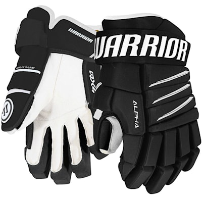 Black/White (Warrior Alpha QX4 Ice Hockey Gloves - Senior)