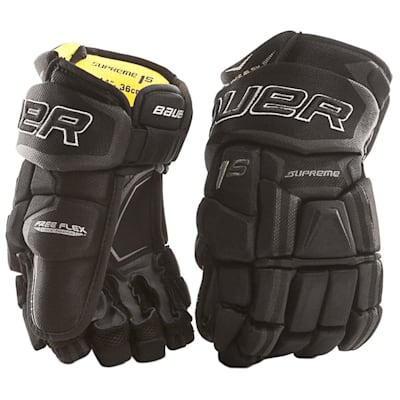 Black (Bauer Supreme 1S Hockey Gloves - 2017 - Junior)