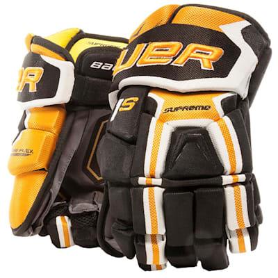 Black/Gold (Bauer Supreme 1S Hockey Gloves - 2017 - Senior)