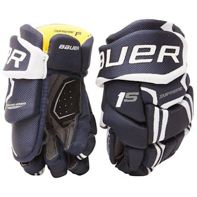 Navy (Bauer Supreme 1S Hockey Gloves - 2017 - Youth)