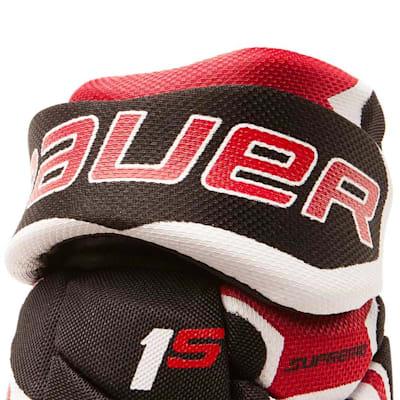 Cuff View (Bauer Supreme 1S Hockey Gloves - 2017 - Youth)
