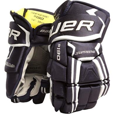 Navy (Bauer Supreme S190 Hockey Gloves - 2017 - Junior)