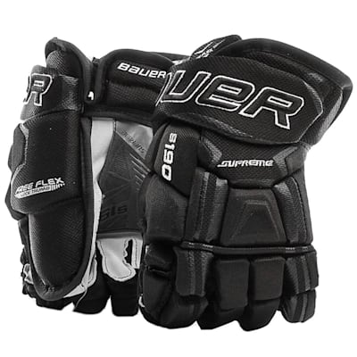 Black (Bauer Supreme S190 Hockey Gloves - 2017 - Junior)