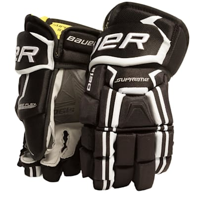 Black/White (Bauer Supreme S190 Hockey Gloves - 2017 - Senior)