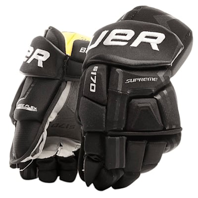 Black (Bauer Supreme S170 Hockey Gloves - 2017 - Junior)