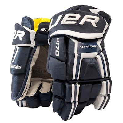 Navy (Bauer Supreme S170 Hockey Gloves - 2017 - Junior)