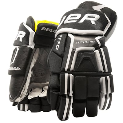 Black/White (Bauer Supreme S170 Hockey Gloves - 2017 - Junior)
