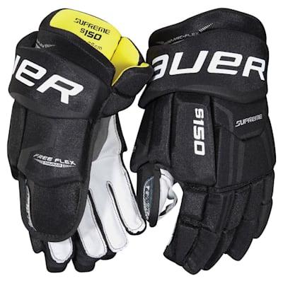 Black (Bauer Supreme S150 Hockey Gloves - 2017 - Senior)