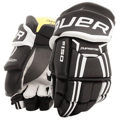 Black/White (Bauer Supreme S150 Hockey Gloves - 2017 - Senior)