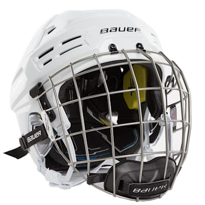 White (Bauer RE-AKT 200 Hockey Helmet Combo)