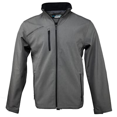 Heather Grey (Bauer Team Softshell Hockey Jacket - 2017 - Senior)