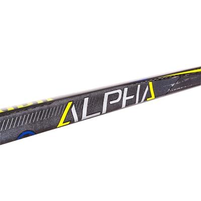Shaft View (Warrior Alpha QX Pro Grip Composite Hockey Stick - Junior)